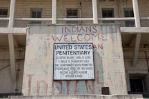 United States penitentiary sign. Alcatraz Island, California. - Photo #22119