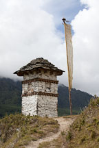 Chorten on the Gangte nature trail. Phobjikha Valley, Bhutan. - Photo #23824