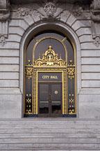Doors to City Hall. San Francisco, California, USA. - Photo #1024
