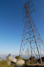 Electricity tower. Runyon Canyon Park, Los Angeles, California, USA. - Photo #7224