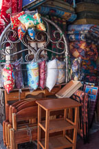 General store selling furniture and cushions. Cusco, Peru. - Photo #9424