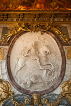 Marble relief of Louis XIV by Antoine Coysevox. Versailles, France. - Photo #31724