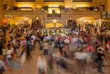 Travellers passing through Grand Central Terminal. New York City, New York, USA. - Photo #13024