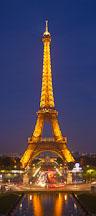 Eiffel Tower at night. Paris, France. - Photo #30924