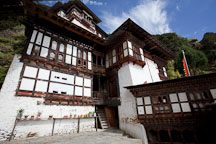 Cheri monastery buildings. Thimphu valley, Bhutan. - Photo #23085