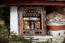 Little shrine at Cheri Monastery. Thimphu valley, Bhutan. - Photo #23092