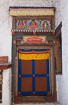 Doorway at Cheri Monastery. Thimphu valley, Bhutan. - Photo #23074