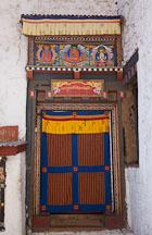 Doorway at Cheri Monastery. Thimphu valley, Bhutan. - Photo #23074