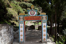 Entrance gateway to Cheri monastery. Thimphu valley, Bhutan. - Photo #23065