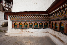 Prayer wheels at Cheri monastery. Thimphu valley, Bhutan. - Photo #23090
