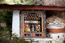 Shrine at Cheri Monastery. Thimphu Valley, Bhutan. - Photo #23079