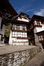 Small courtyard at Cheri monastery. Thimphu Valley, Bhutan. - Photo #23087