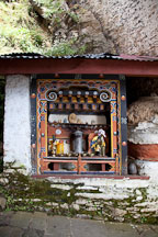 Small shrine at Cheri Monastery. Thimphu valley, Bhutan. - Photo #23078