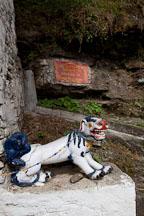 Snow lion statue at Chagri monastery. - Photo #23093