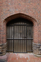Locked door at Westminster Hall Cemetery, Baltimore, Maryland, USA. - Photo #3925
