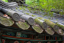 Architectural detail of the jibung (roof) of a pavilion at Donghaksa Temple in Gyeryongsan National Park. - Photo #20725
