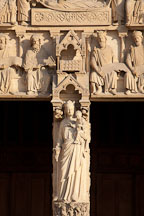 Portal of the Virgin, Notre Dame Cathedral. Paris, France. - Photo #31325