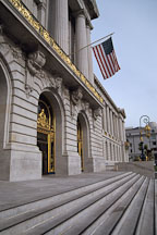 Steps to City Hall. San Francisco, California, USA. - Photo #1025