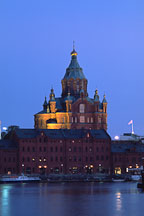 Uspensky Cathedral at night. Helsinki, Finland. - Photo #325