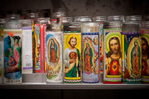 Devotional candles at Cathedral Santuario de Guadalupe. Dallas, Texas. - Photo #24668