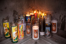 Devotional candles at the Cathedral of the Virgin of Guadalupe. Dallas, Texas. - Photo #24667