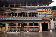Monastic quarter of Rinpung Dzong in Paro, Bhutan. - Photo #24024