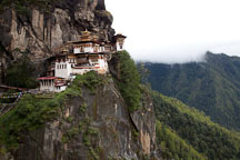 Taktshang Goemba is the most famous monastery in Bhutan. Paro Valley, Bhutan. - Photo #24214