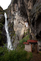 Shelkar Zar (waterfall) by Taktshang. Paro Valley, Bhutan. - Photo #24161