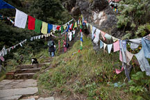 Steps on the path to the Tiger's Nest monastery. Paro, Bhutan. - Photo #24238
