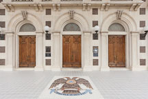 Three doors at the entrance of the Scottish Rite Cathedral. Dallas, Texas. - Photo #24875