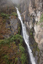 Waterfall (Shelkar Zar) near Taktshang monastery. Paro Valley, Bhutan. - Photo #24149