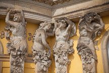 Caryatid architectural supports at Sansoucci. Potsdam, Germany. - Photo #30426