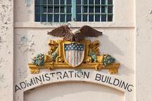 Eagle symbol on the Administration building. Alcatraz island, California. - Photo #28926