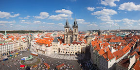 Panorama of Old Town Square. Prague, Czech Republic. - Photo #30226