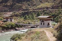 Reconstructed iron bridge near Paro, Bhutan. - Photo #22326