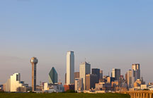 Dallas skyscrapers in the late afternoon. - Photo #25007