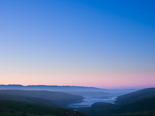 Dawn sky over Drake's estero. Point Reyes, California. - Photo #25541