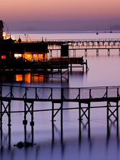 Docks on Tomales Bay. Point Reyes, California. - Photo #25678