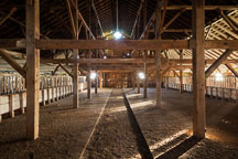 Interior of the hay barn at Pierce Point Ranch. Point Reyes, California. - Photo #25502