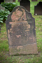 Old and worn tombstone at Trinity Church cemetery. New York City. - Photo #25376
