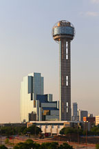Reunion Tower and the Hyatt Regency Dallas. - Photo #25206