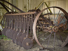 Rusted disc cultivator at Pierce Ranch. Point Reyes National Seashore, California. - Photo #25654