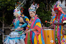 Drummers at carnaval's grand parade. San Francisco, California, USA. - Photo #6227