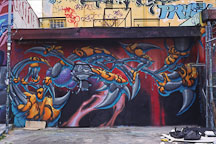 Graffiti and garbage. Los Angeles, California, USA. - Photo #27