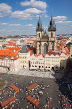 Old town square and Tyn Church. Prague, Czech Republic. - Photo #30227