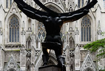 Statue of Atlas before Saint Patrick's Cathedral. New York City, New York, USA. - Photo #13127