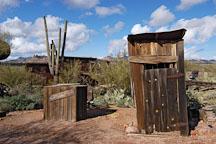 Outhouse. Goldfield, Phoenix, Arizona, USA. - Photo #5527