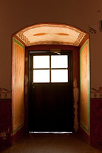 Backlit doorway at Mission San Luis Rey. Oceanside, California. - Photo #26595