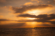 Clouds and Ocean beach pier. San Diego, California. - Photo #26176