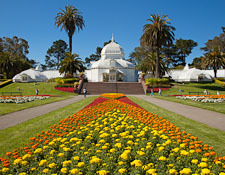 Conservatory of Flowers in Golden Gate Park. San Francisco, California. - Photo #26883